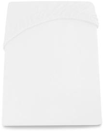 Palags DecoKing Amelia, balta, 90x200 cm, ar gumiju