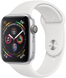 Apple Watch Series 4 40mm LTE Silver Aluminum Sport Band White