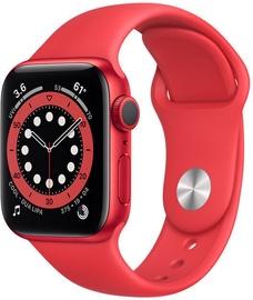 Nutikell Apple Watch Series 6 GPS LTE 40mm Aluminum Red Sport Band, punane