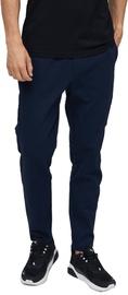 Audimas Cotton Tapered Fit Sweatpants Navy Blue 176/L