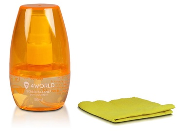 4World Cleaning Kit 50ml+Cloth Orange