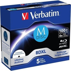 Verbatim BD-R XL M-Disc Blu-Ray 100GB 4x 5pcs