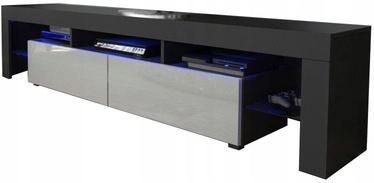 ТВ стол Pro Meble Milano 200 Black/Grey, 2000x350x450 мм