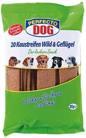 Perfecto Dog Chew Strips Wild & Poultry 200g