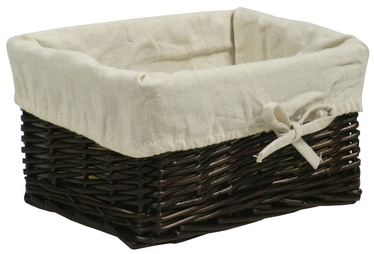Home4you Basket Max 2 24x18xH12cm Dark Brown