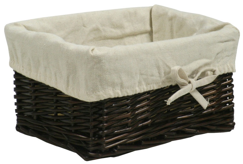 Home4you Basket Max 2 24x18xH12cm Dark Brown
