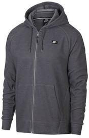 Nike Mens Full Zip Optic Hoodie 928475 021 Grey M
