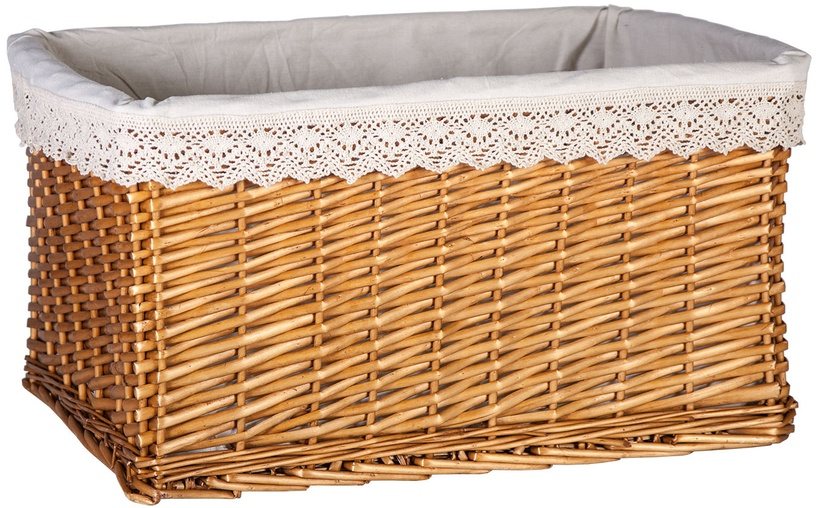 Home4you Basket Max 3 46x32xH26cm Lace / Brown
