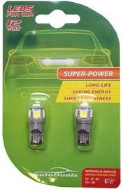 Автомобильная лампочка AutoDuals 5SMD-LED T10 Light Bulb Blue 2pcs