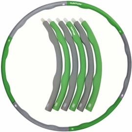 Гимнастический обруч Tunturi 14TUSFU188, 1000 мм, 1.2 кг, зеленый/серый