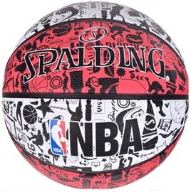 Spalding NBA Graffiti Rubber Ball 83574Z Red/White Size 7