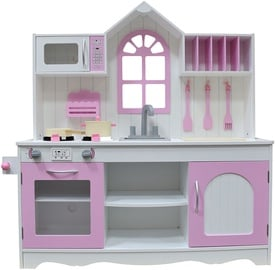 4IQ Sofija Wooden Kitchen Pink/White