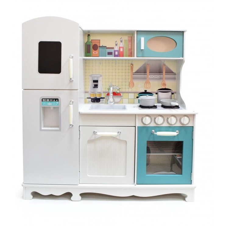 4IQ Elena Wooden Childrens Play Kitchen