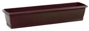 Prosperplast Balcony Flower Box With Plate Brown 80cm