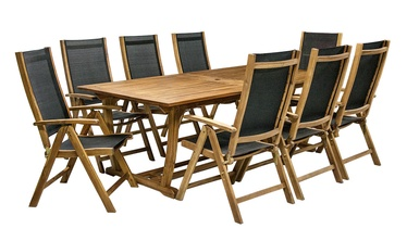 Home4you Future Expandable Table And 8 Chairs Acacia