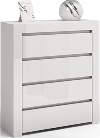 Комод Top E Shop Deko D4 Gloss White, 80x40x102 см