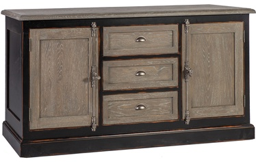 Home4you Chest Of Drawers Watson Oak/Black