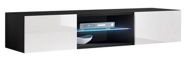 TV galds ASM RTV Fly 33, balta/melna, 1600x400x300 mm
