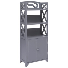 Шкаф для ванной VLX 284110, серый, 24 x 46 см x 116 см