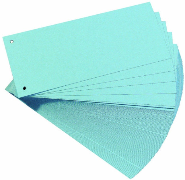 Herlitz Divider Strips 10843480 Blue 100pcs