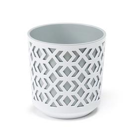 Вазон AZTEK 792 250-45, белый/серый