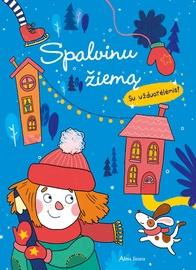 Knyga spalvinu žiemą su užduotėlėmis