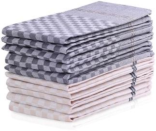 Кухонное полотенце DecoKing Louie, серый/кремовый, 70 см x 50 см, 10 шт.