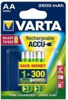 Varta Rechargeable Batteries 2x AA 2600mAh