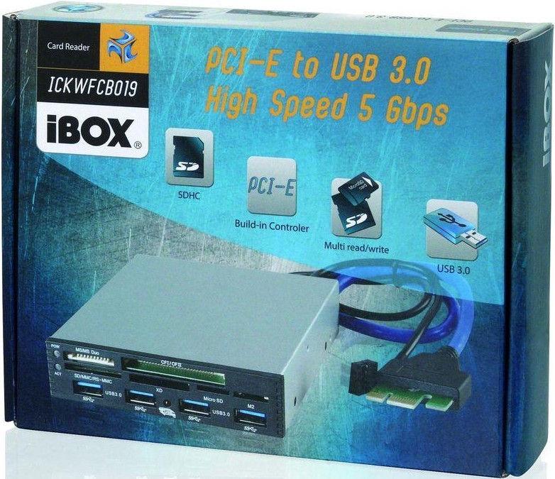 iBOX ICKWFCB019 Card Reader PCI-EX to USB 3.0 Black