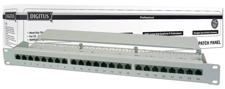 Digitus 19'' CAT5e Patch Panel 24-Port STP DN-91524S