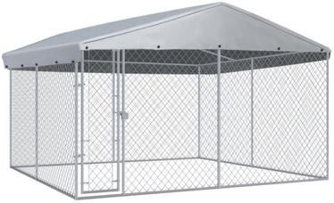 Koerapuur VLX Outdoor Dog Kennel w/ Roof, 3820x3820x2250 mm