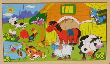 Brimarex Wooden Puzzle Animals 15pcs 1429