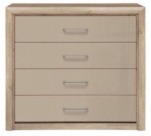 Kumode Black Red White Koen 2 Drawer Oak/Grey Sand