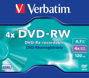 Verbatim DVD-RW 4X 4.7GB Matte Silver Jewel Box