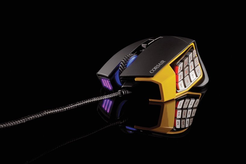 Corsair Scimitar Pro RGB Optical Gaming Mouse Yellow