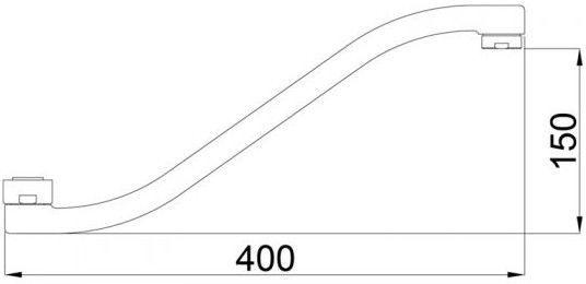 RUBINETA 633008 Faucet Spout 400mm