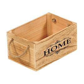 Medinė dėžė su rankenomis 69493, 25,6 x 17 x 13 cm