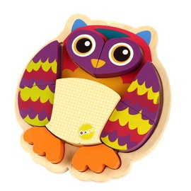 Oops Wooden Puzzle In Storage Frame Owl 9pcs 16002.12