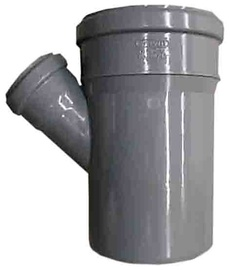 Kanalizācijas caurules trejgabals Wavin D110/50mm, 45°, PVC
