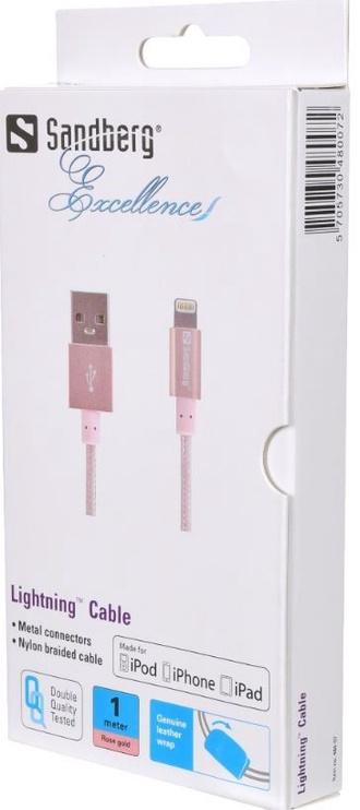 Sandberg Cable USB to Apple Lightining Rose Gold 1m