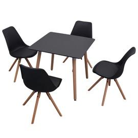 Обеденный комплект VLX 5 Piece Dining Table & Chair, черный