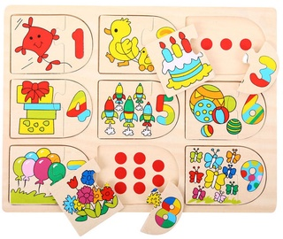 Bigjigs Toys Picture And Number Matching Puzzle BJ535