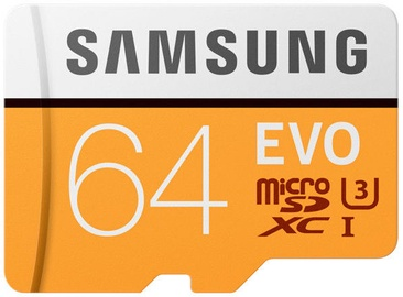 Samsung Evo MicroSDXC Class 10 UHS-I U3 64GB 100MB/s + Adapter