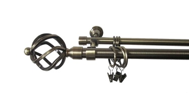 Dvigubo karnizo komplektas Futura F512005, 240 cm, Ø 19 mm