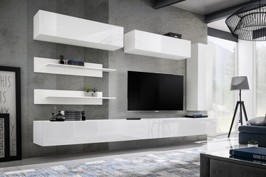 ASM Fly L1 Living Room Wall Unit Set White