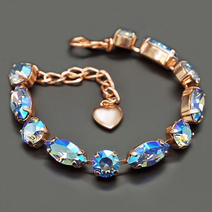 Diamond Sky Bracelet Chic II Light Sapphire Shimmer With Swarovski Crystals