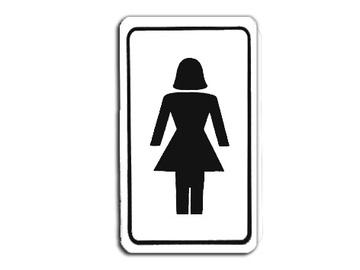 """Ženklas """"Moterų tualetas"""", 70 x 120 mm"""