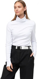 Audimas Cotton Long Sleeve Roll Neck Top White M