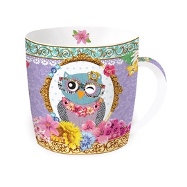 Puodelis su dėžute Easy Life Owl fancy, 350 ml