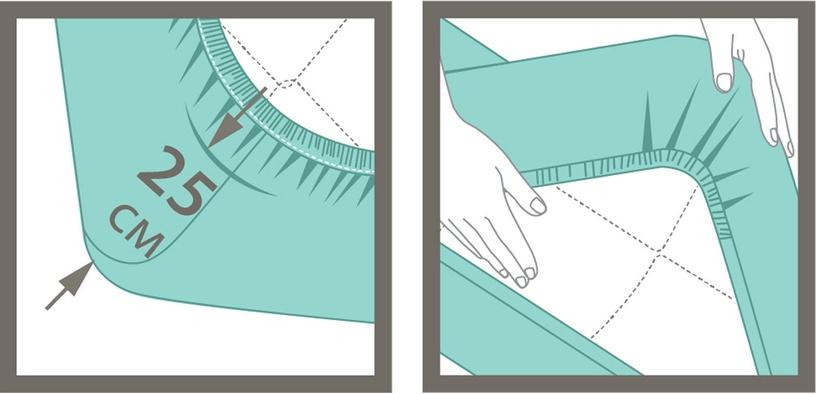 Palags Ardenza Jersey White, 90x200 cm, ar gumiju